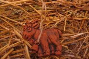 Козочка из глины